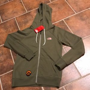 Rare North Face Zip up hoodie - small